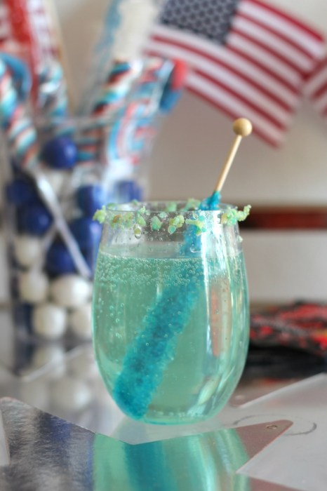 blue candy cocktail