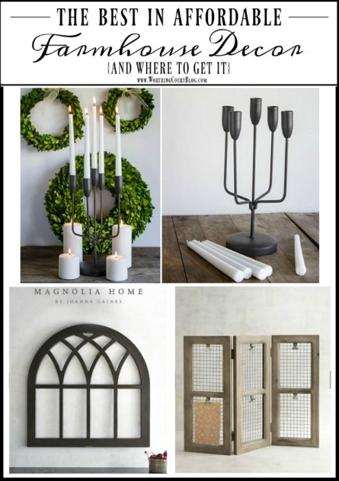 the best in affordable farmhouse decor and where to find it