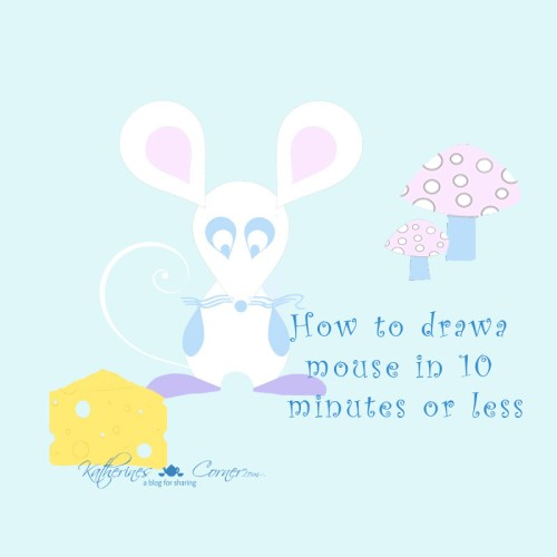 how to draw a mouse in 10 minutes or less