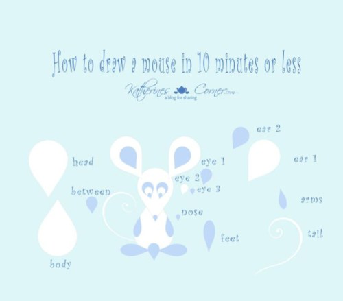 how to draw a mouse in 10 minutes or less easy diy