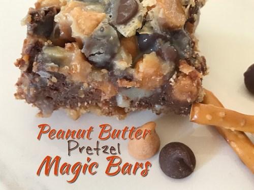 peanut butter magic pretzel bars