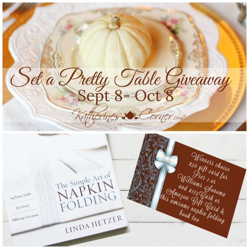 set a pretty table giveaway
