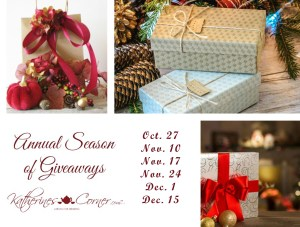 The  Annual Season of Giveaway Schedule