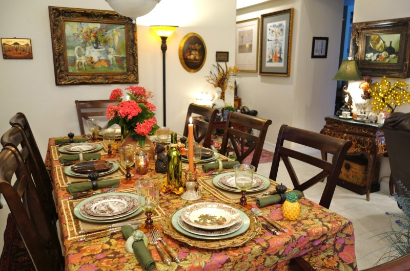 autumn tablescape