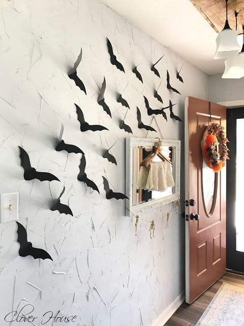 diy halloween bats on the wall