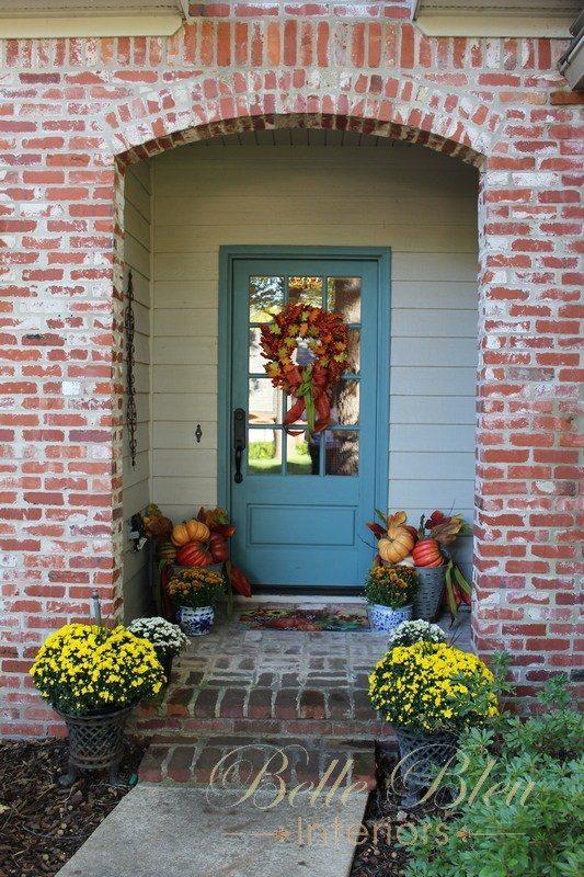 belle blue front entry