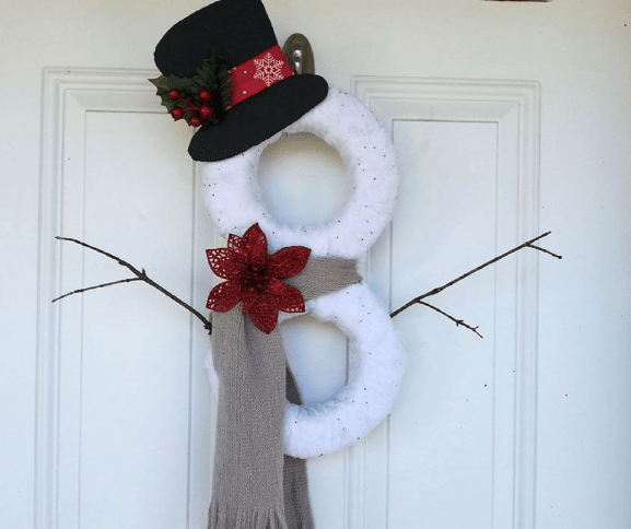 diy snowman door hanger