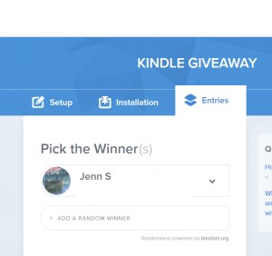 kindle giveaway winner