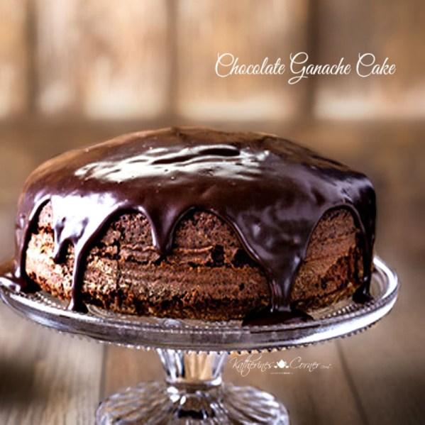 dark chocolate ganache cake