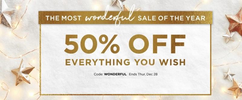shutterfly 50% off sale