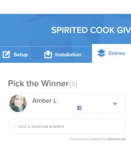 spirited cook giveaway winner