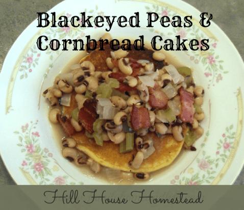 blackeyed peas and cornbread cakes