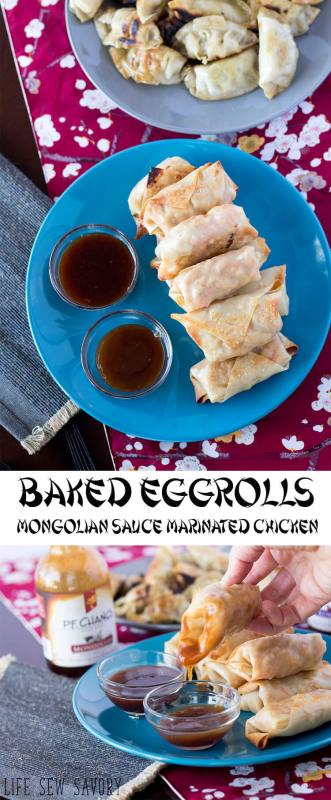 baked eggrolls meal planning Monday inspirations