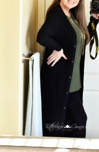simple comfort top with maxi sweater