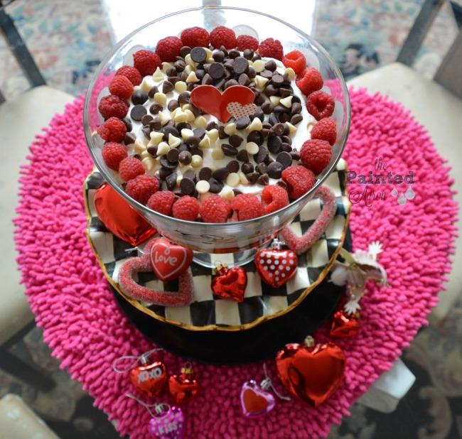chocolate raspberry cheesecake trifle