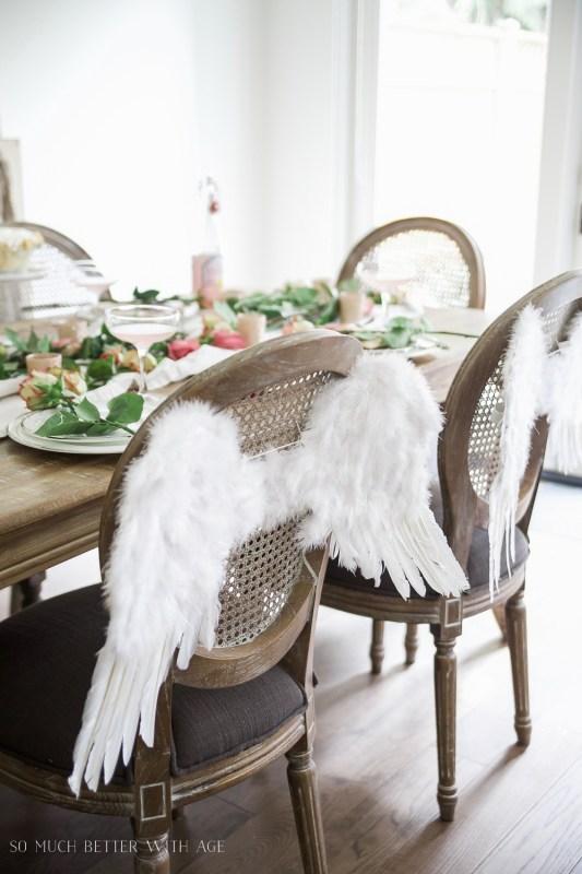angel wings chair backs