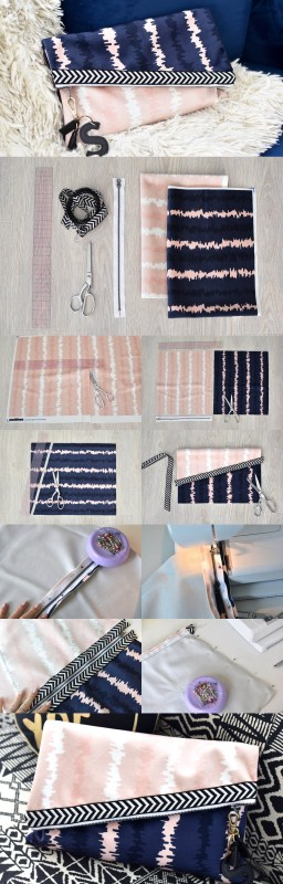 diy reversible clutch purse