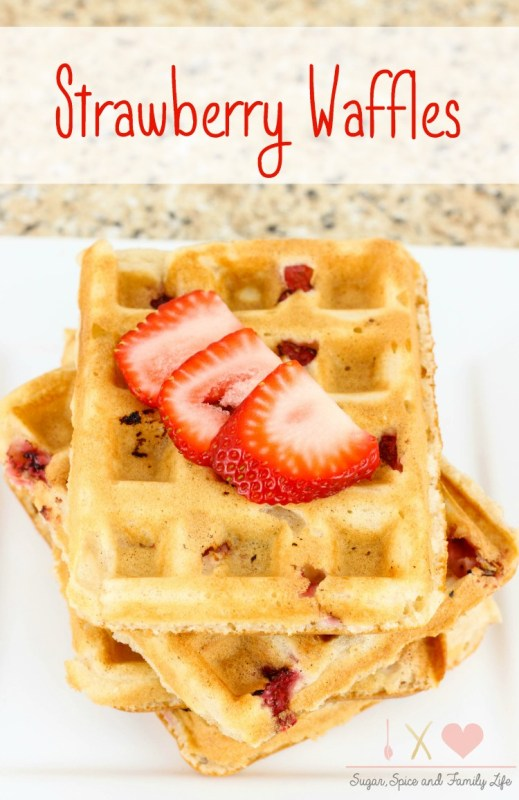 strawberry waffles recipe