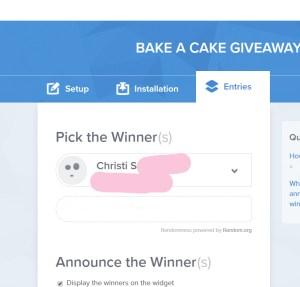 bake a cake winner