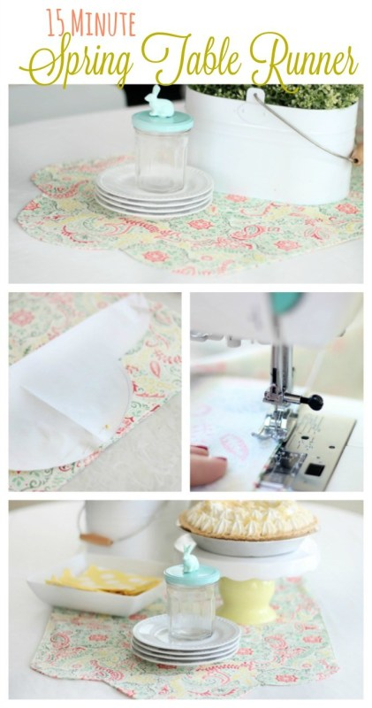 diy 15 minutes table runner