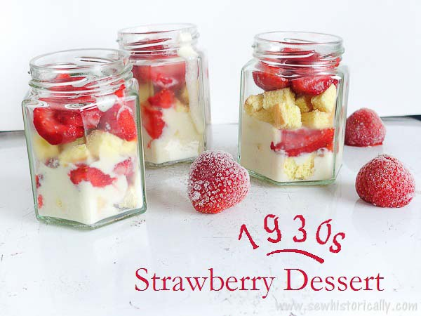 old fashion strawberry dessert