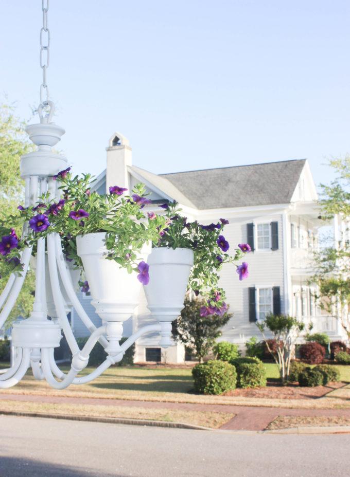 diy planter pot chandelier