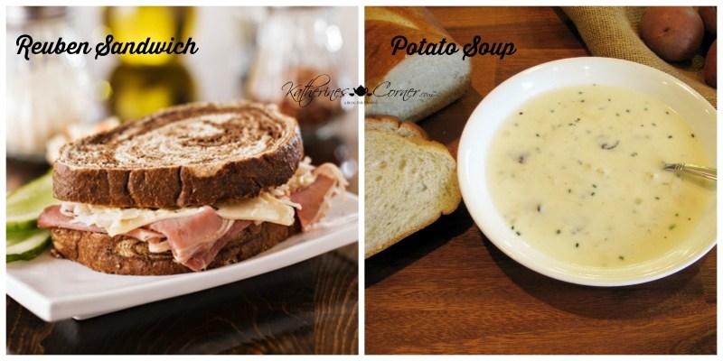 reuben sandwich with potato soup