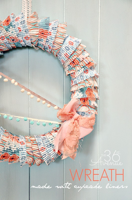diy cupcake liners wreath