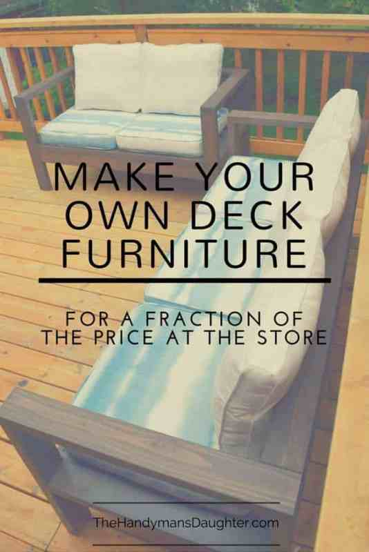 DIY make your own patio furniture