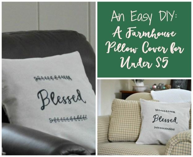 diy farmhouse pillow