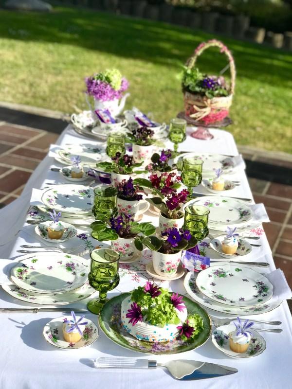 violet pattern china