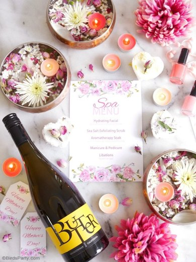 DIY spa party at home
