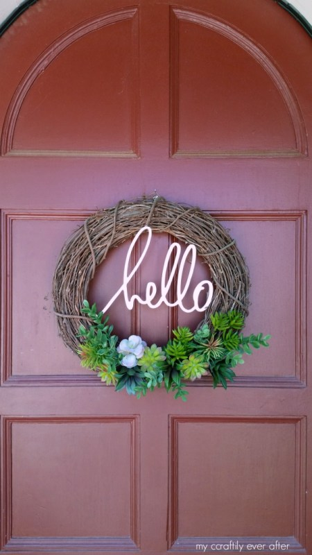 diy succulent wreath for desert climates