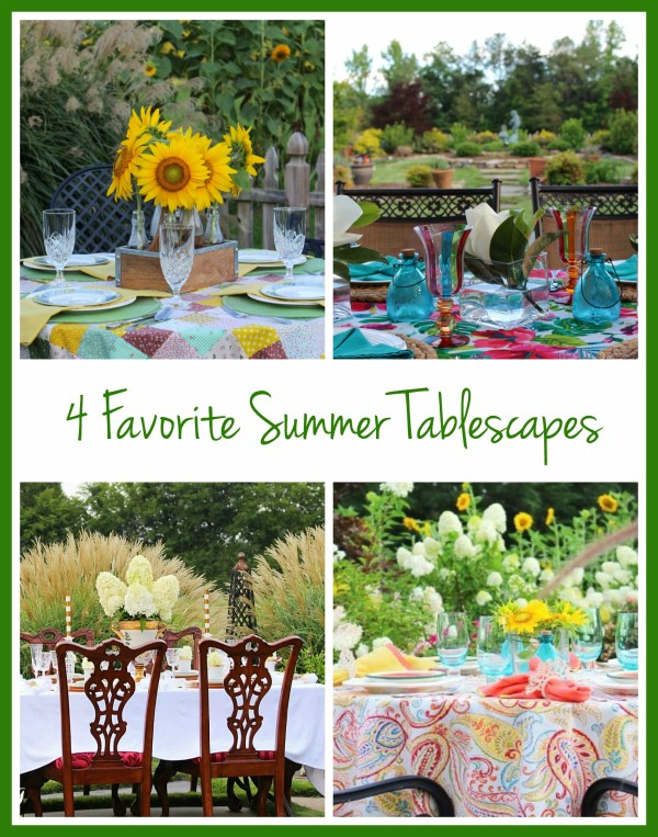 4 summer tablescapes