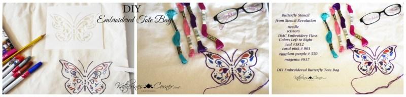 DIY embroidered tote bag