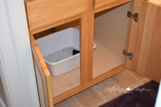 diy bathroom faucet installation basin or bucket under sink