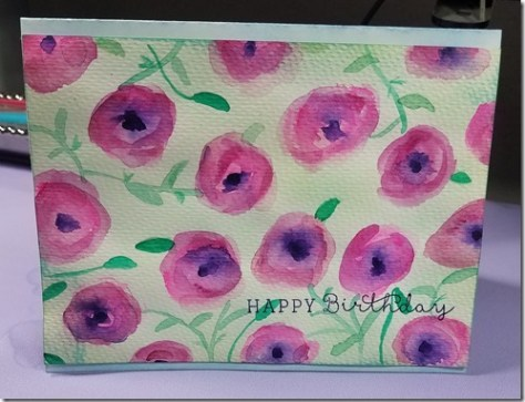 diy poppy greeting card
