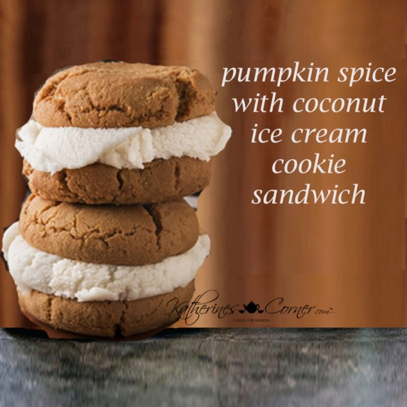pumpkin spice ice cream sandwich