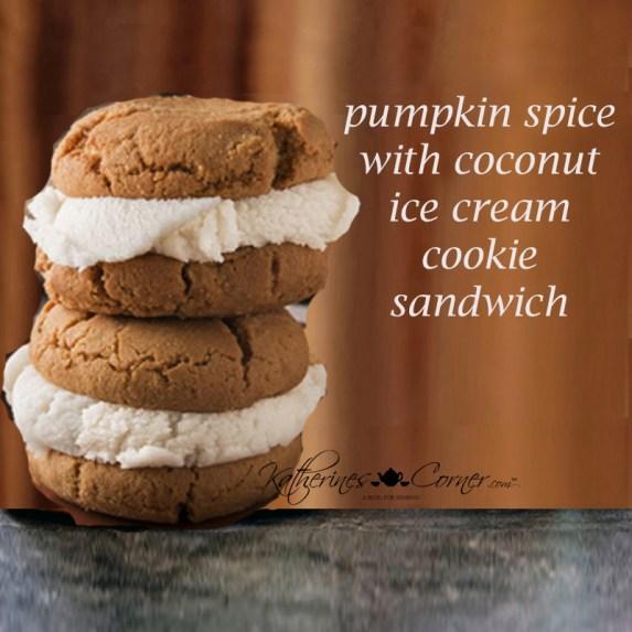 pumpkin spice ice cream sandwich