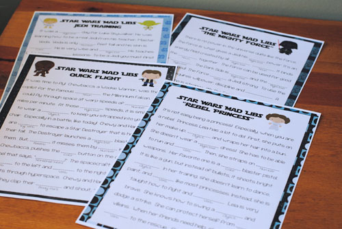 star wars mad libs game printables from get away today