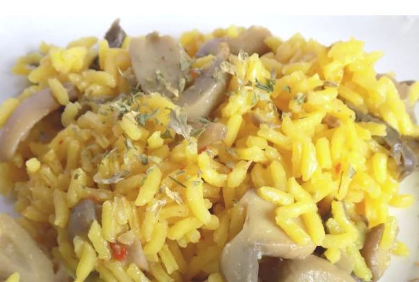 yellow mushroom rice recipe
