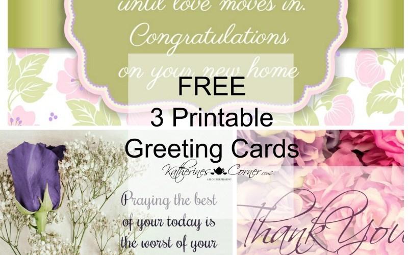 Purple Printable Greeting Cards