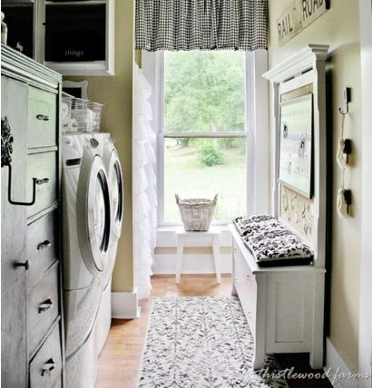 galley style laundry room