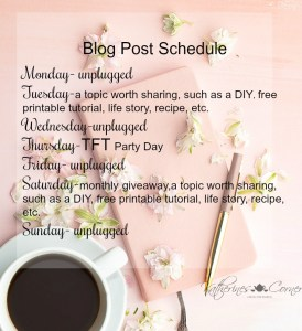 new blog schedule 2018