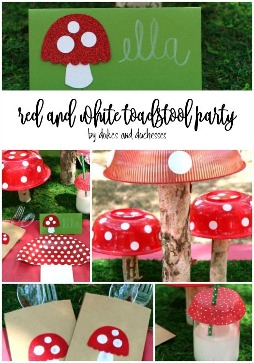 diy red and white toadstool party