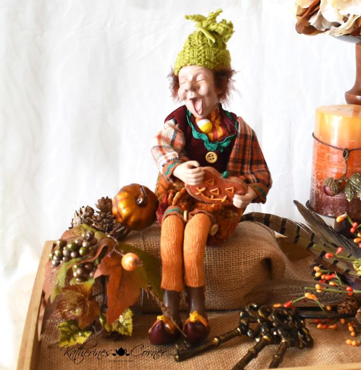 diy autumn tray vignette happy fall katherines corner