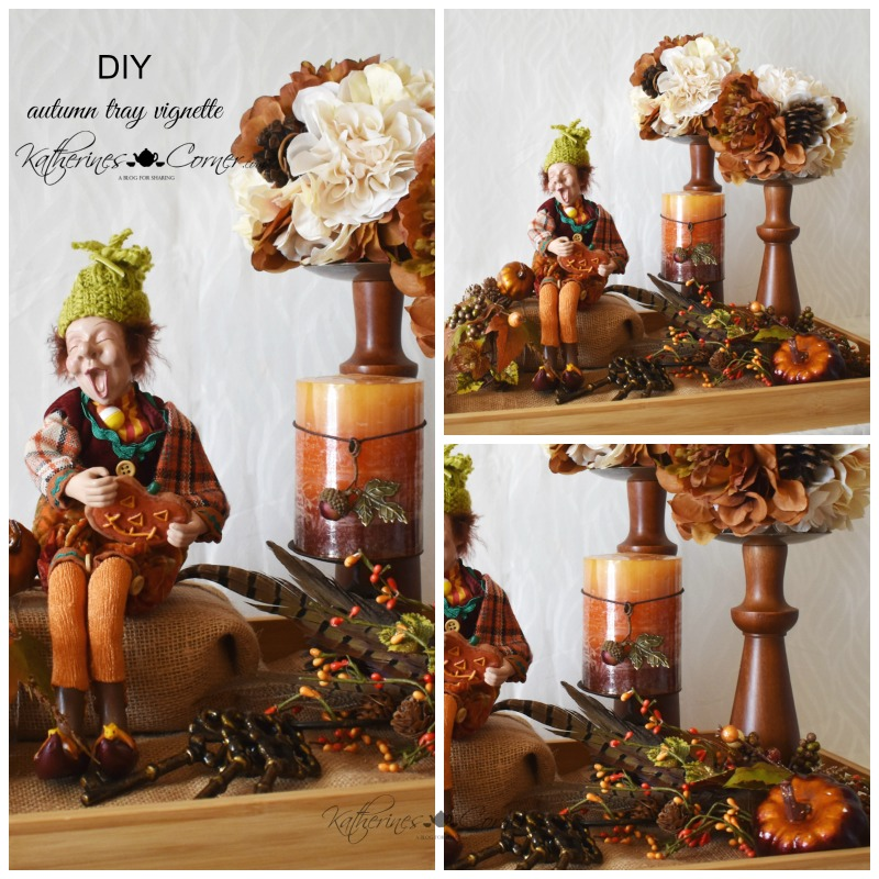 DIY Autumn Tray Vignette