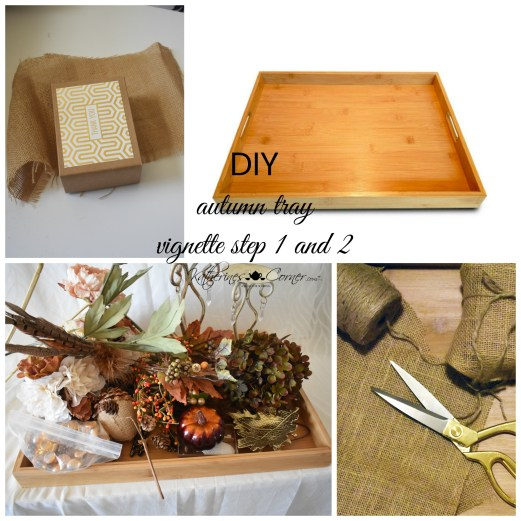 diy autumn tray vignette step 1 and 2
