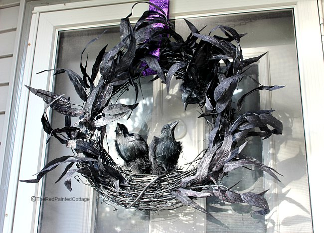 diy raven wreath