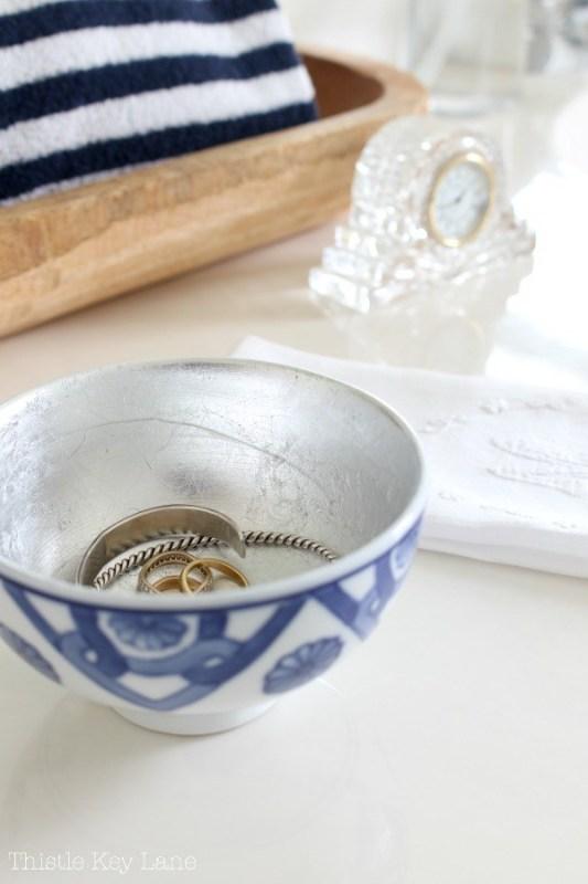 diy silver leaf bowl